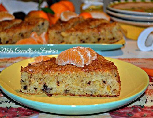 Torta mandarini e cioccolato fondente, senza uova nè burro (ricetta vegana)