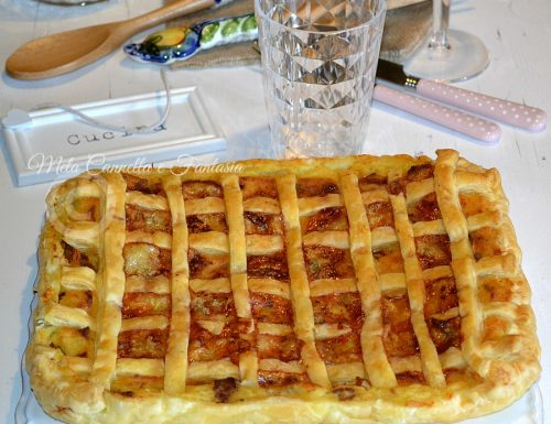 Torta salata patate, salsiccia e gorgonzola
