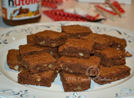 Brownies Nutella e nocciole