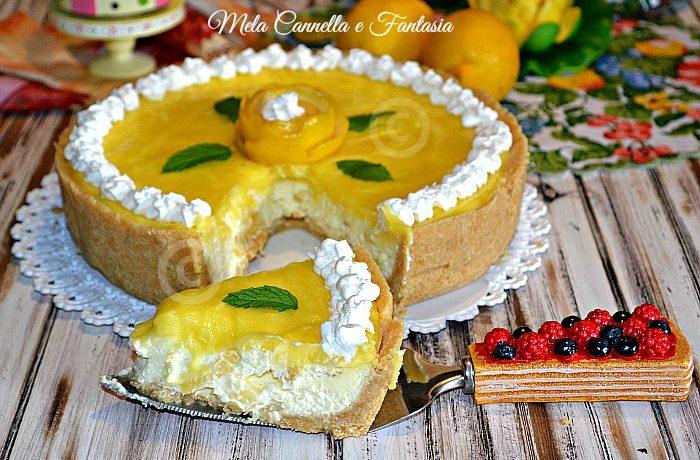Cheesecake lemon, crema di limone e ananas (senza cottura)