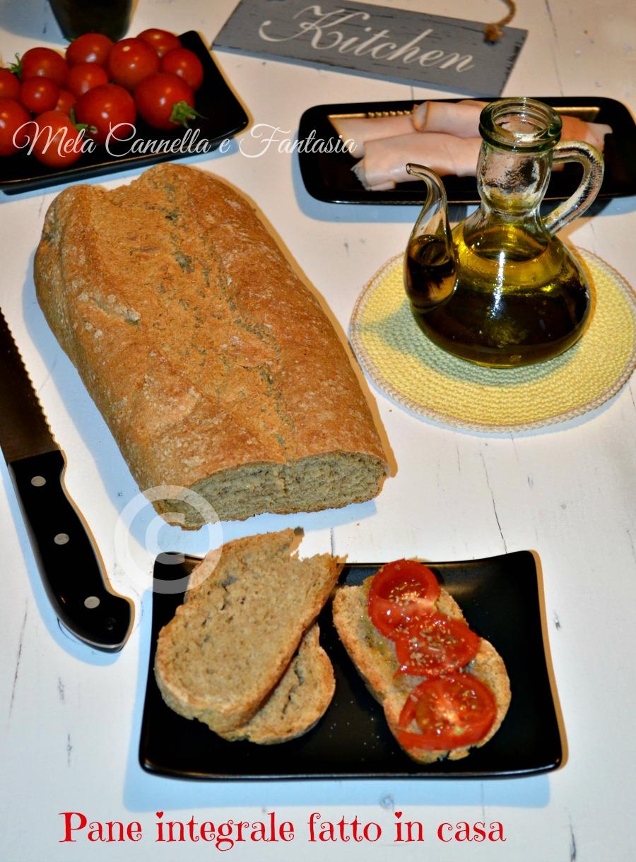 Pane integrale fatto in casa senza macchina