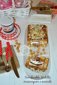 Semifreddo Nutella mascarpone e nocciole