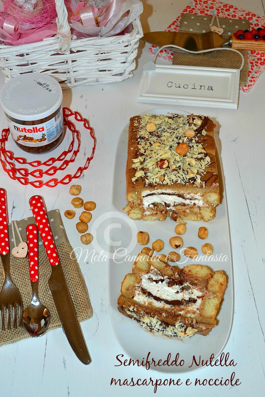Semifreddo Nutella mascaropone e nocciole