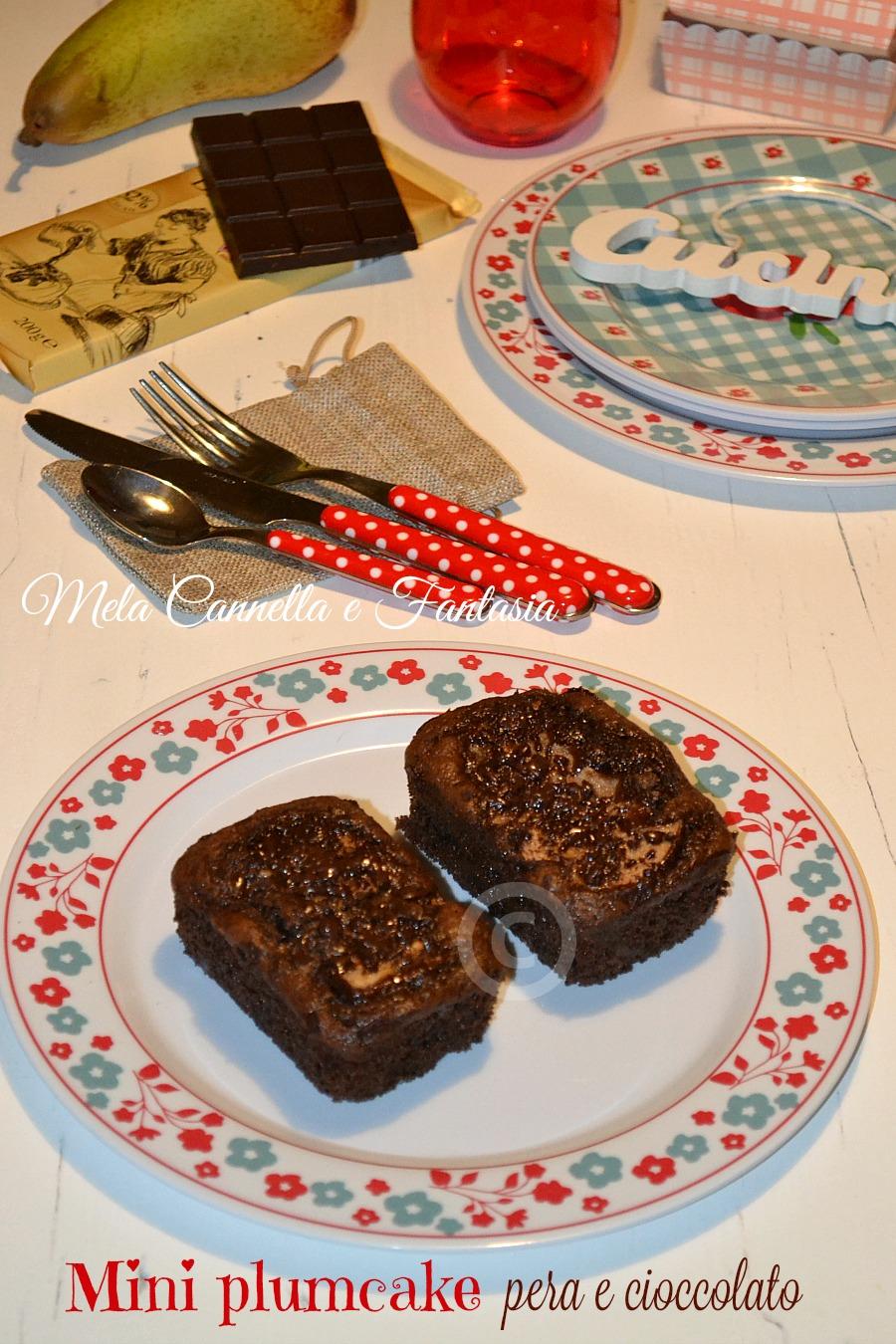 plumcake pera e cioccolato