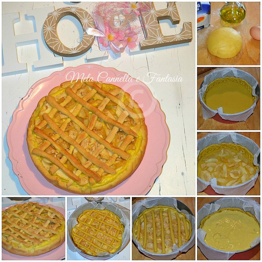 tutorial crostata mele e crema