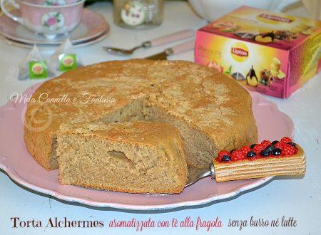 Torta Alchermes aromatizzata con Tè alla fragola