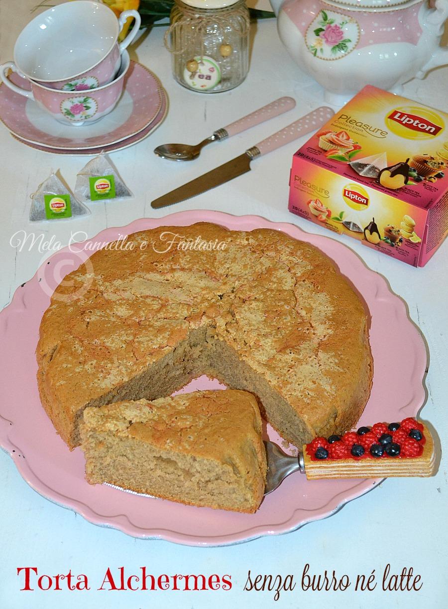Torta Alchermes senza burro né latte