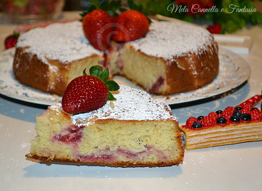 Torta fragole fresche e yogurt
