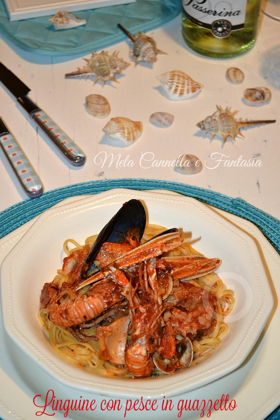 Linguine con pesce in guazzetto