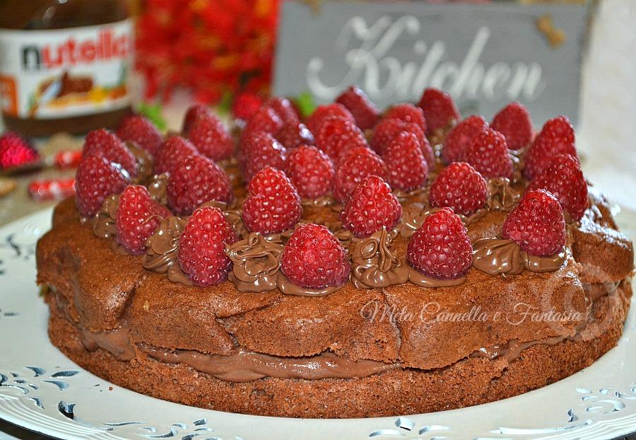 Torta Nutella mascarpone lamponi