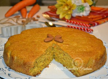 Torta carote e mandorle senza burro né latte
