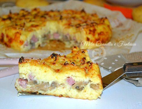 Torta di patate con Emmental e funghi – ricetta facile