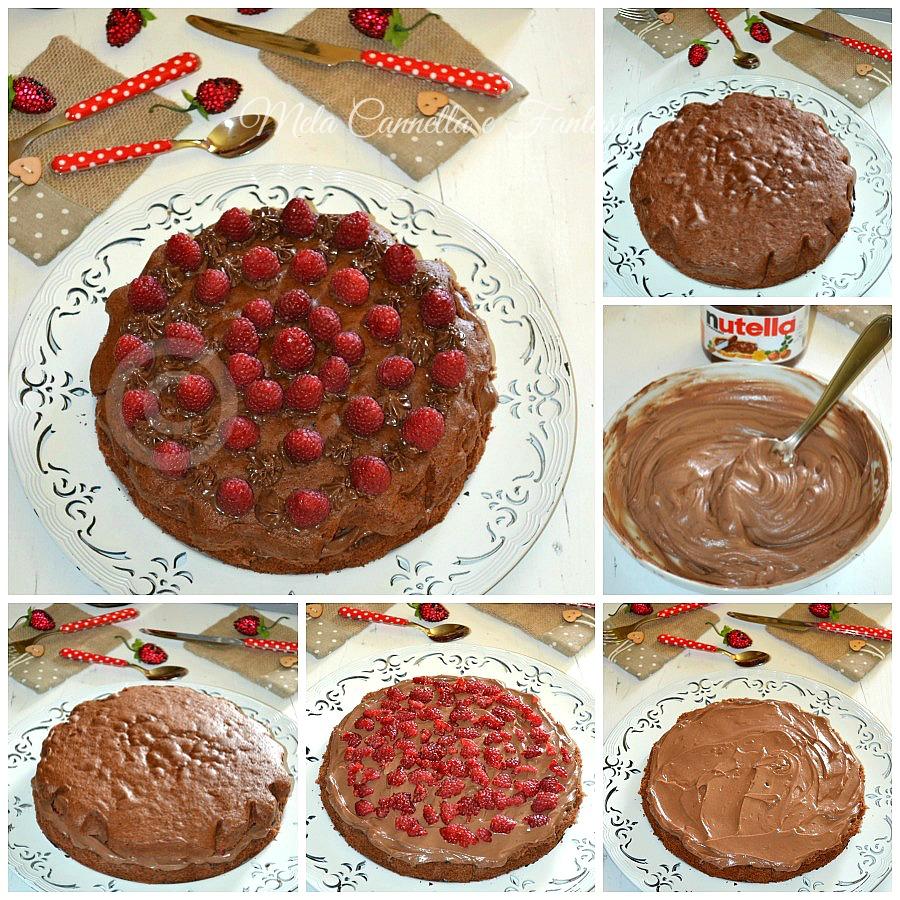 tutorial Torta Nutella e lamponi