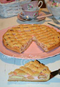 Crostata rosa con ricotta e Alchermes