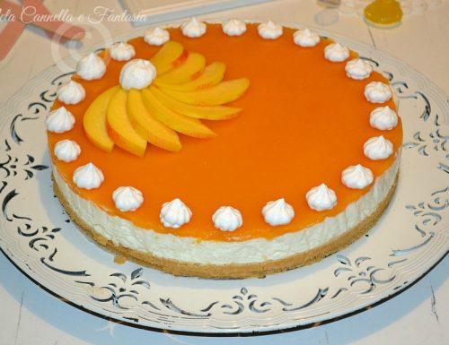 Cheesecake fredda con gelatina di pesche – ricetta facile