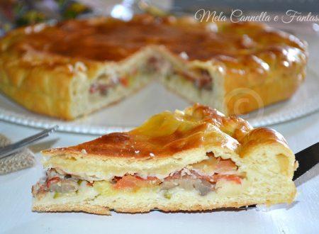 Torta rustica stracchino, speck e verdure - ricetta sfiziosa