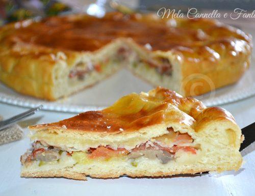 Torta rustica stracchino, speck e verdure – ricetta sfiziosa