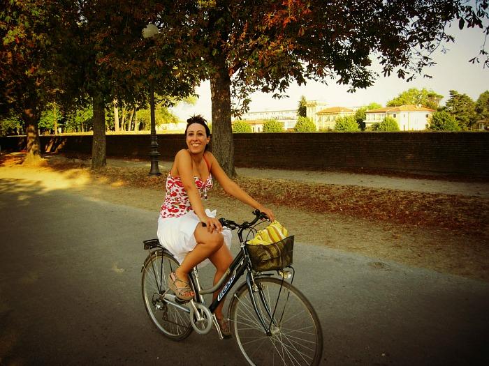 in bici a lucca