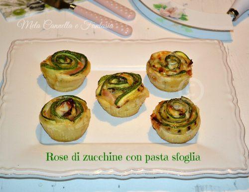 Rose di zucchine, prosciutto e formaggio