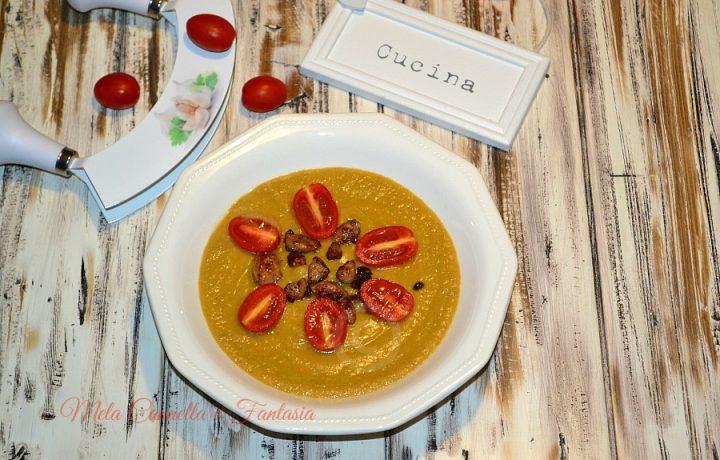 Crema di verdure con speck e salsiccia – facile e veloce