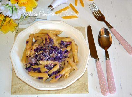 Pennette salsiccia e verza rossa – ricetta facile e veloce