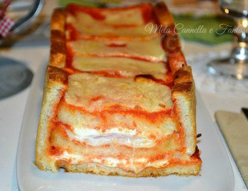 Plumcake pancarré con prosciutto cotto e mozzarella
