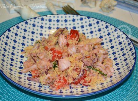 Cous cous scampi totani e gamberetti - ricetta facile e veloce