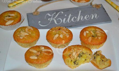 Tortine kiwi e mandorle, morbide e senza burro – ricetta light