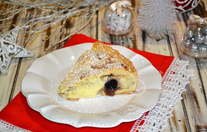 Crostata crema alla vaniglia e amarene – senza burro