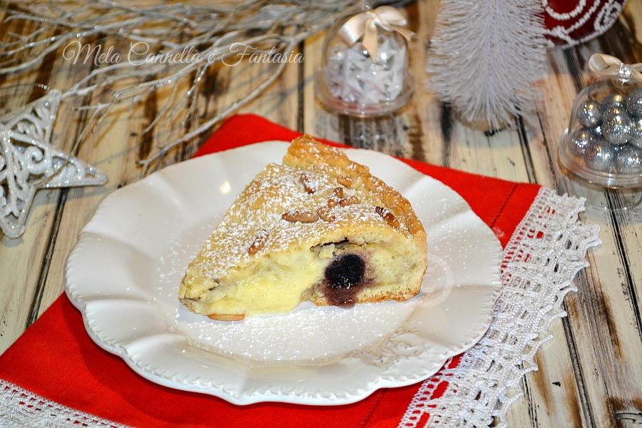 Crostata crema alla vaniglia e amarene - senza burro