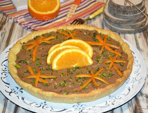 Crostata golosa con gelatina di arance e crema al cioccolato