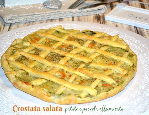 Crostata patate e provola affumicata – facile e veloce