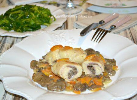 Involtini con funghi e formaggio – ricetta sfiziosa facile veloce