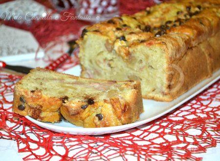Plumcake morbido mela cachi e cioccolato – senza burro né latte
