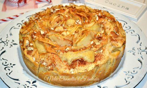 Torta mele mascarpone e mandorle – senza burro né olio