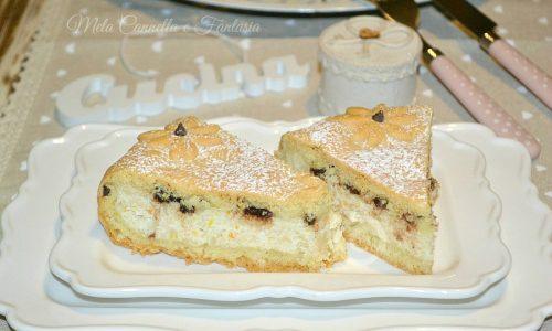 Crostata ricotta e cioccolato al profumo d'arancia (frolla senza burro)