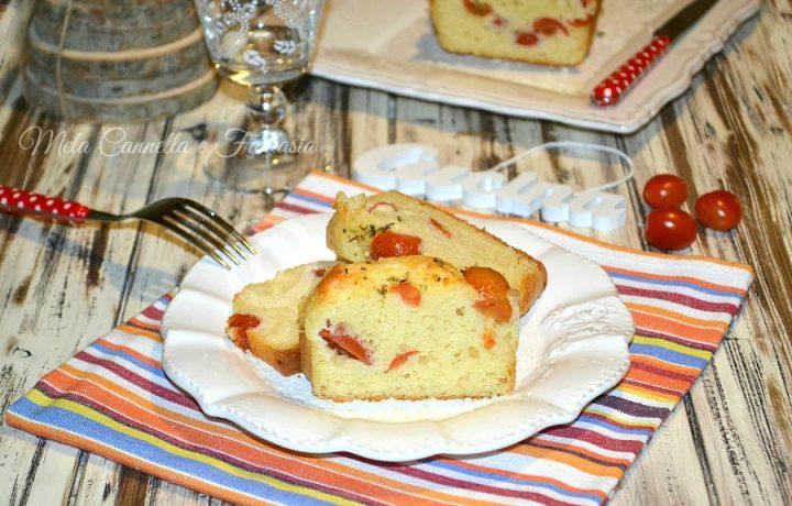 Plumcake provolone e pomodorini – ricetta sfiziosa