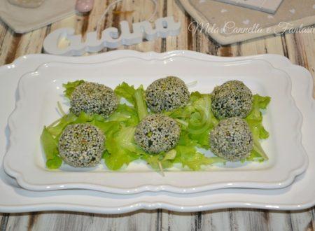 Polpettine di spinaci mortadella e sottilette (cotte in forno)