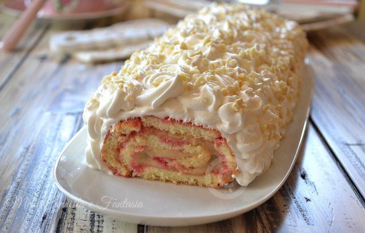 Rotolo con crema pasticcera e Chantilly – ricetta golosa
