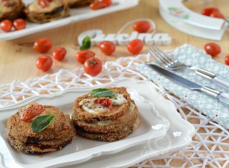 Melanzane impanate con pomodoro e mozzarella – ricetta facile