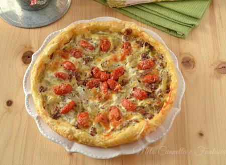Pizza rustica veloce finocchi e pomodorini con pasta sfoglia