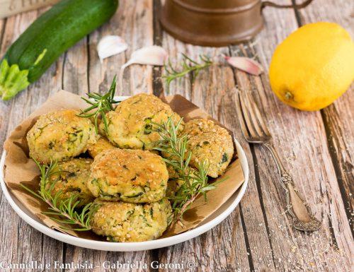 Polpette vegetariane zucchine e patate con provola affumicata