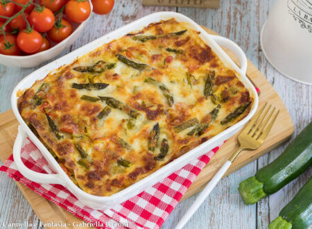 Lasagna bianca con verdure e prosciutto cotto