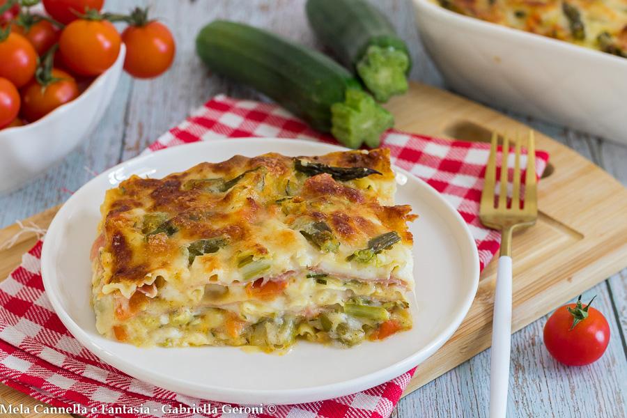 lasagna bianca con verdure