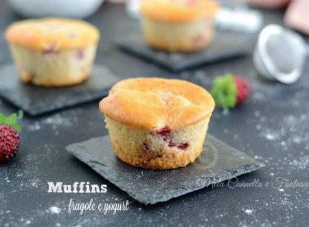 Muffins con fragole e yogurt – morbidi e senza burro