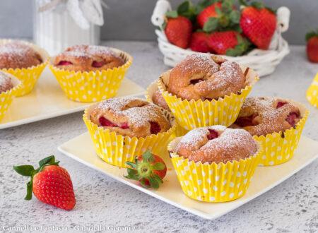 Muffins con fragole e yogurt - morbidi e senza burro