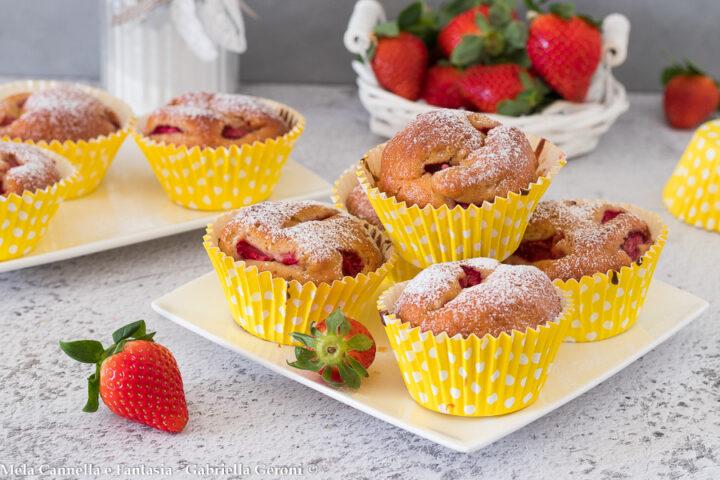 muffins fragole