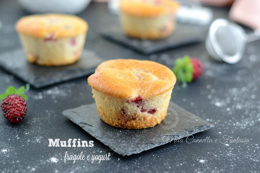 muffins con fragole
