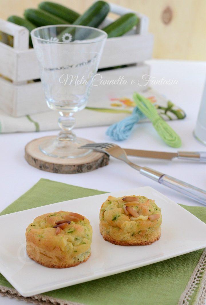 muffins ricotta e zucchine