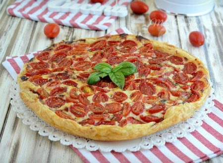 Pizza rustica 5 minuti con datterini sottilette e speck